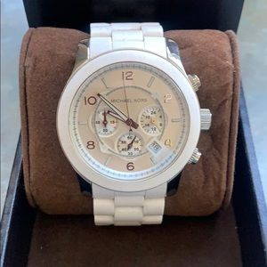 Michael Kors men's white watch